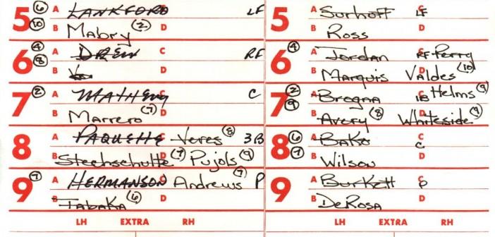 St. Louis Line Up Card