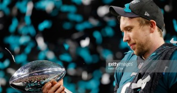in Super Bowl LII at U.S. Bank Stadium on February 4, 2018 in Minneapolis, Minnesota.